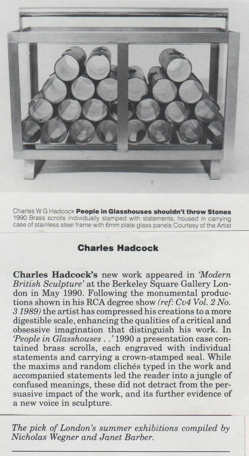 Charles Hadcock at The Berkeley Square Gallery